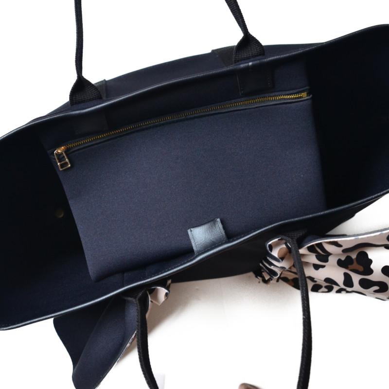 【予約 】 ネイプルズ ラッフルトートバッグ-Lサイズ- -レパードミックス-TT-288LE-L- (10月中旬,、10月末 お届け)