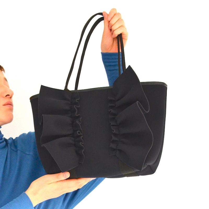 【一部予約】6月下旬 お届け ネイプルズ ラッフルトートバッグ-Sサイズ-