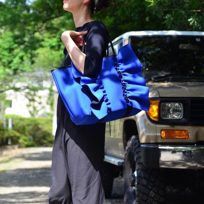 【一部予約】一部カラー 5月中旬お届け ネイプルズ ラッフルトートバッグ-Lサイズ-