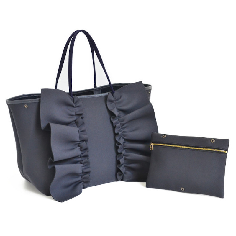 【一部予約】一部カラー 1月下旬-2月中旬お届け ネイプルズ ラッフルトートバッグ-Lサイズ-
