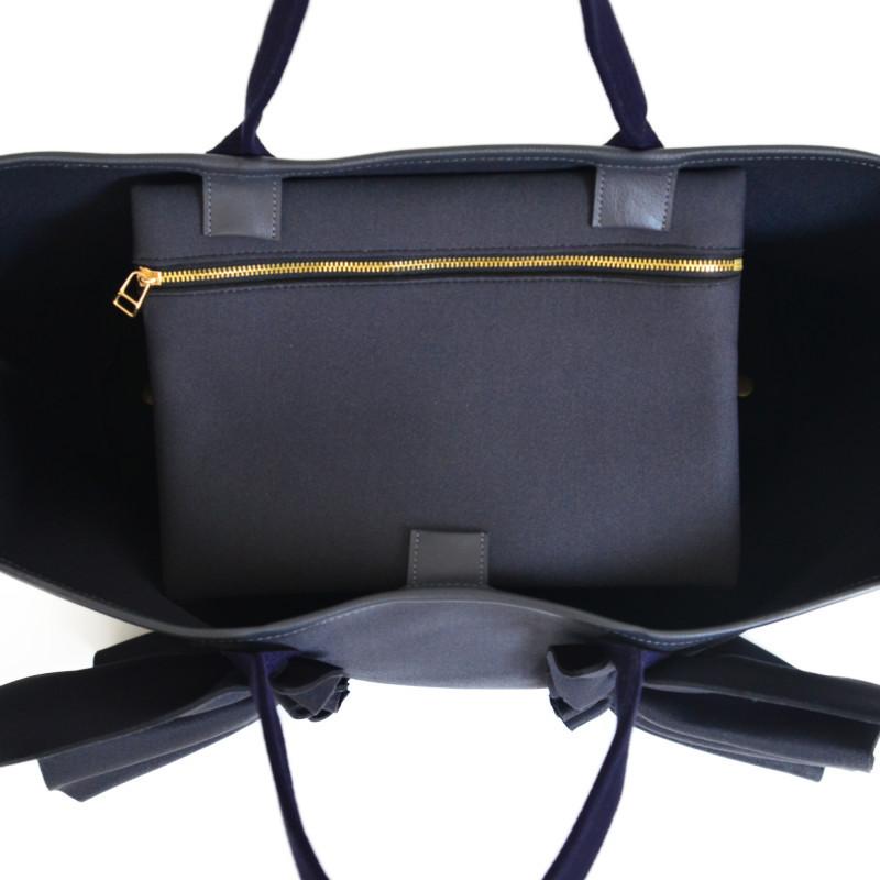 【一部予約】7月上旬 お届けネイプルズ ラッフルトートバッグ-Lサイズ-