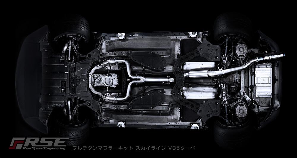 フルチタンマフラー スカイライン V35クーペ RB6090-NS04G