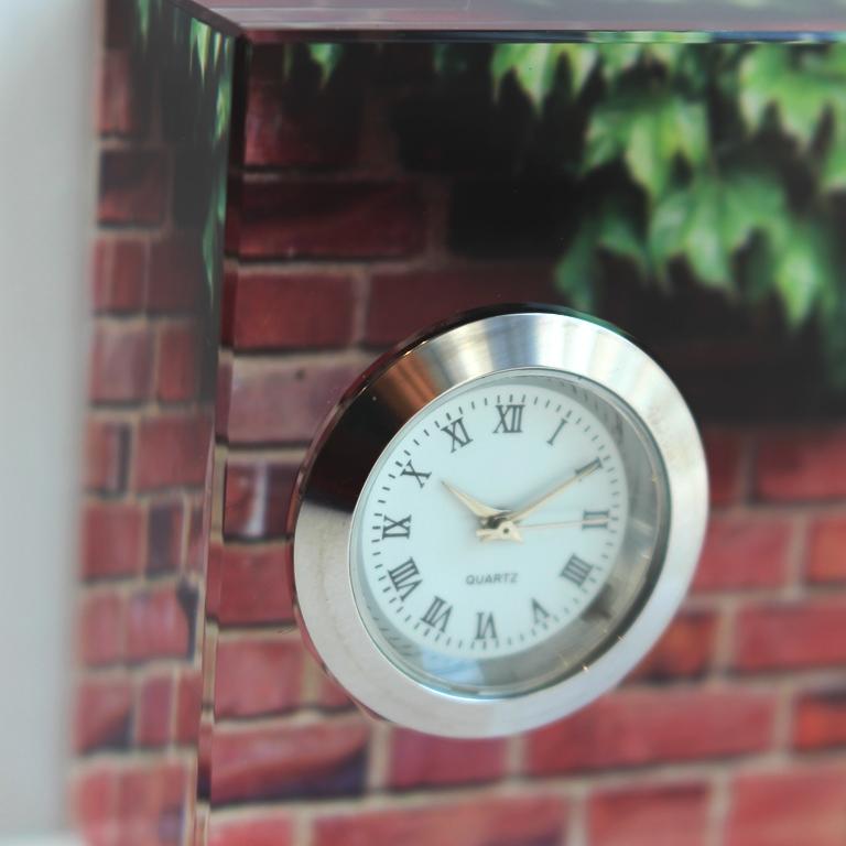 クリスタル時計(レンガ)
