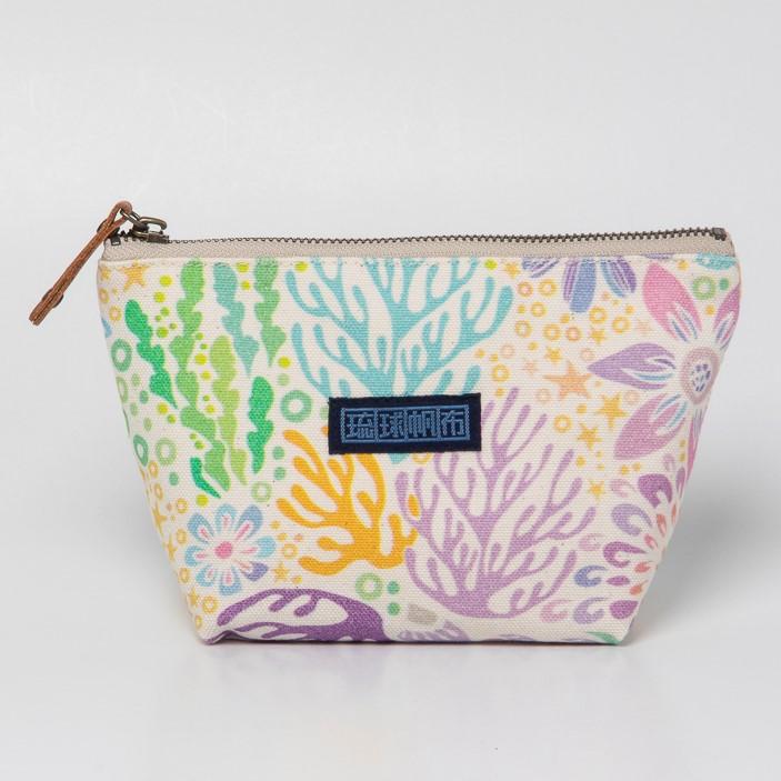 ポッケさんのポーチA/珊瑚の花畑