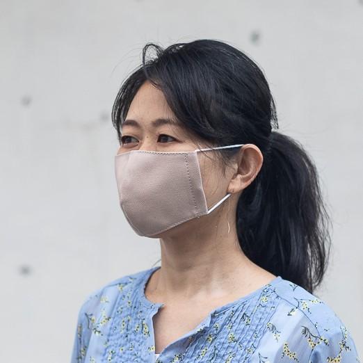 ファッションマスク ピンクベージュ