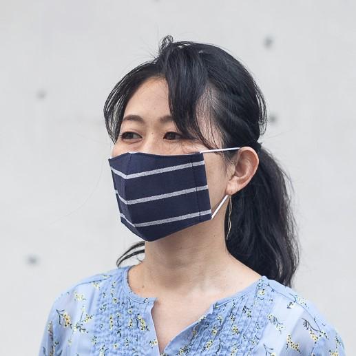ファッションマスク ネイビーボーダー