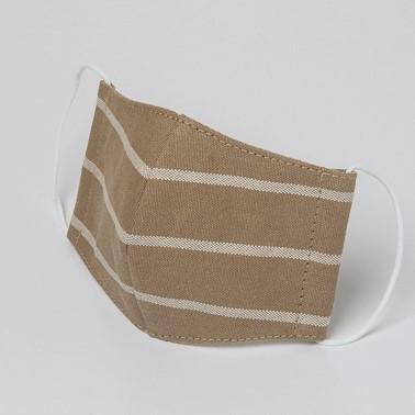 ファッションマスク ベージュボーダー