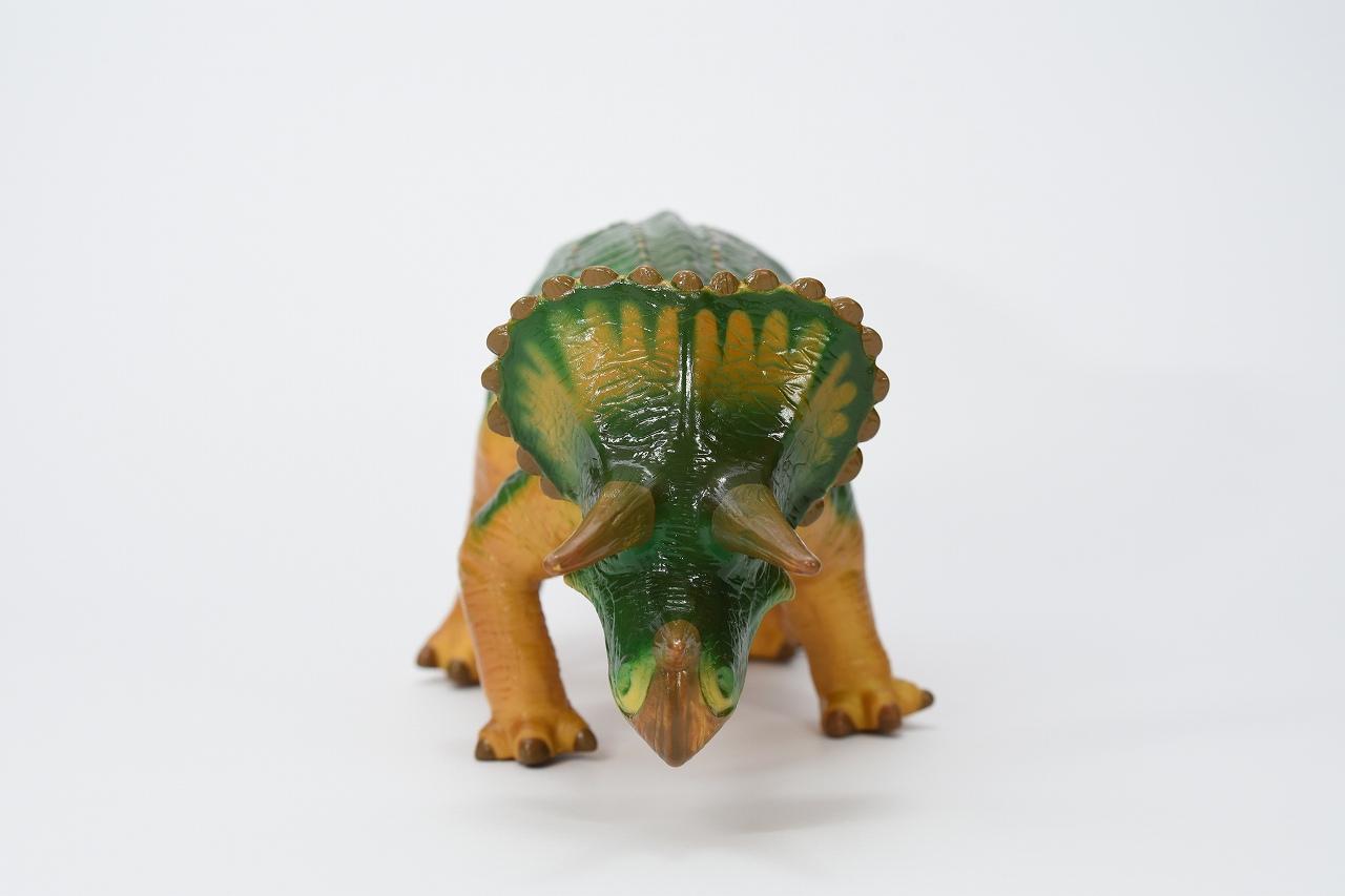【Favorite】トリケラトプス グリーン ビニールモデル