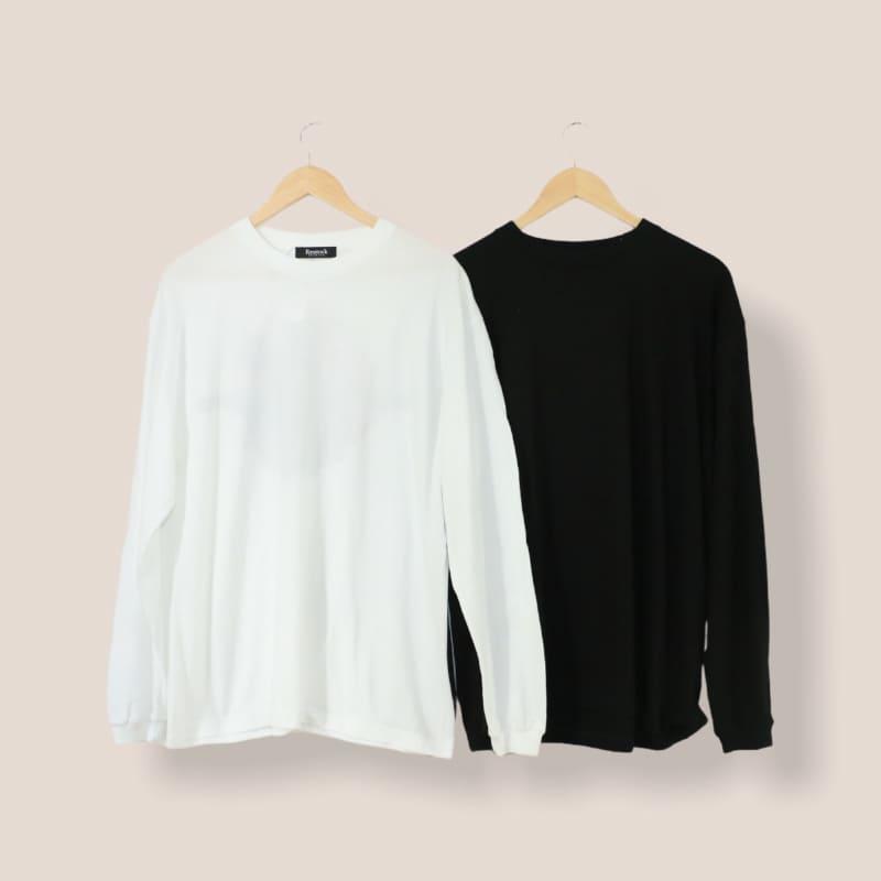 フラワーパターンロングTシャツ