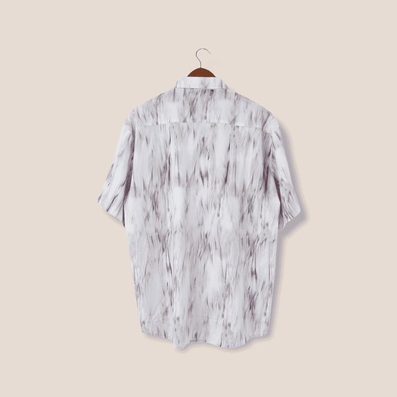 ストーンパターン半袖シャツ