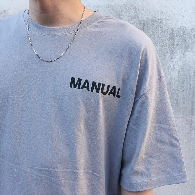 MANUALパッチTシャツ