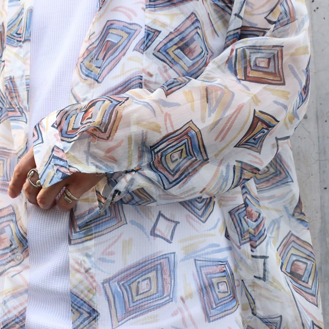 シースルーアートシャツ