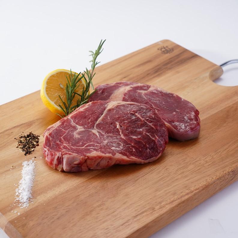 最高級ステーキ用牧草牛 リブロース 1Kg/200gカット5枚 グラスフェッドビーフ Reserve