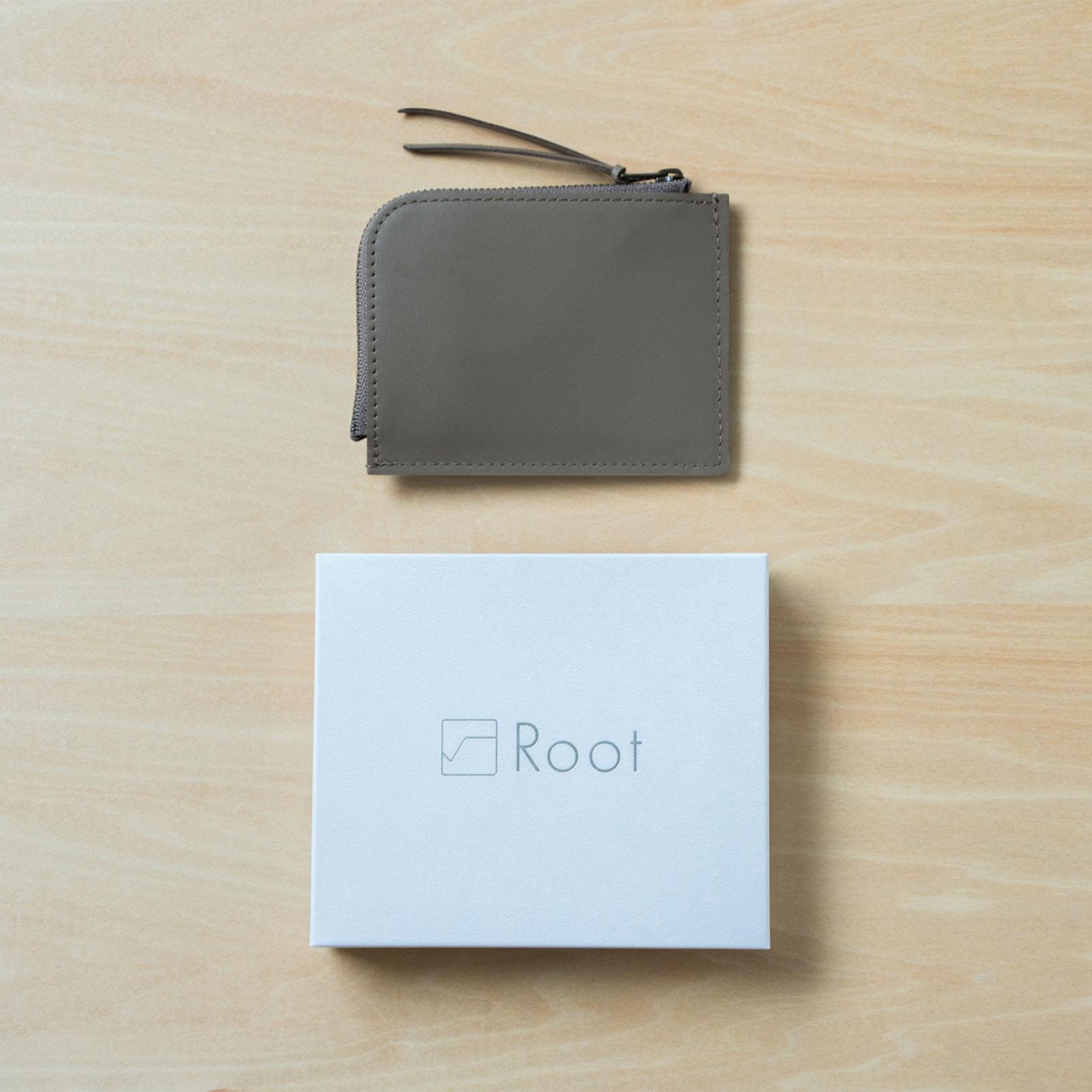 Root <UNISEX>minimal wallet(本革ミニマルウォレット)
