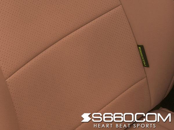 S660.COM SPIDER S660(JW5) スポーツレザーシートカバー【プレミアムブラウン】