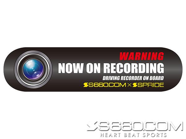S660 SPIDER ドライブレコーダーステッカー・16cm ×1枚