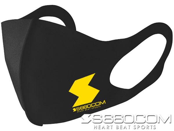 S660 SPIDER オリジナル3Dフィットマスク【ブラック×イエローロゴ】 ×1枚