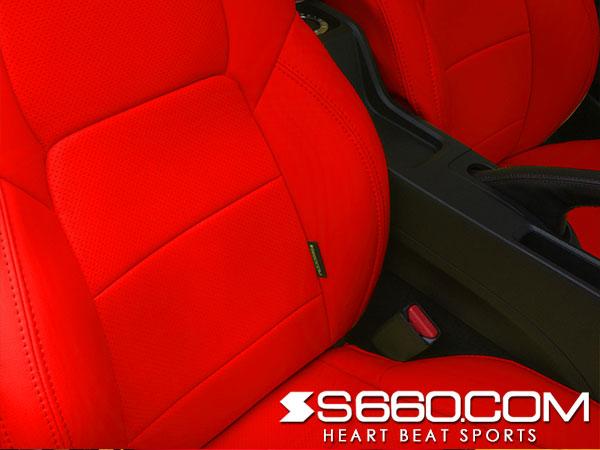 S660.COM SPIDER S660(JW5) スポーツレザーシートカバー【プレミアムレッド】