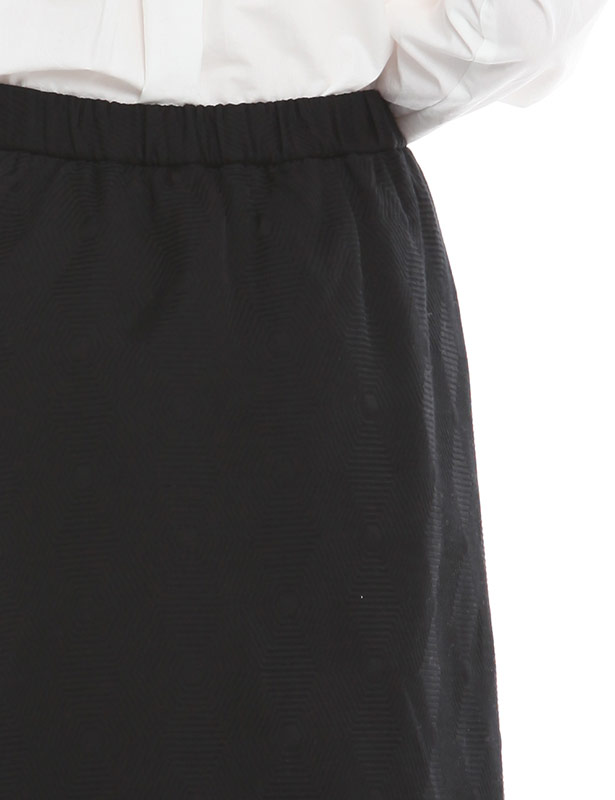 コットン 幾何学柄ジャガード スカート