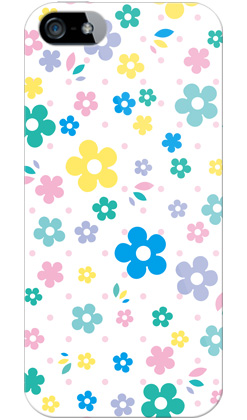 uistore「RetroFlower (white)」 / for  iPhone 5/SoftBank
