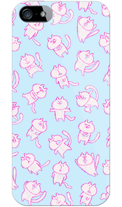 uistore「loosey cat (Blue)」 / for  iPhone 5/SoftBank