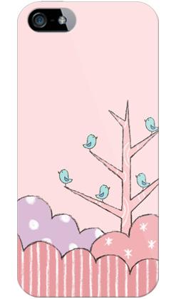 uistore「Tree of Bird(Pink)」 / for  iPhone 5/SoftBank