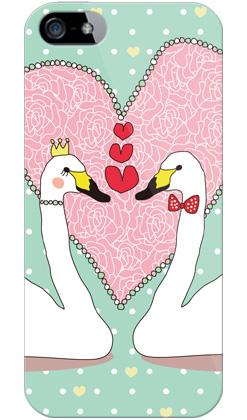 uistore「LovelySwan(LimeGreen)」 / for  iPhone 5/SoftBank