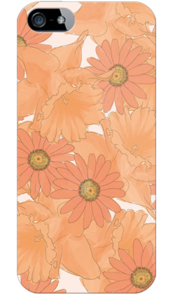 uistore「Nostalgic Flower (Coral Red)」 / for  iPhone 5/SoftBank