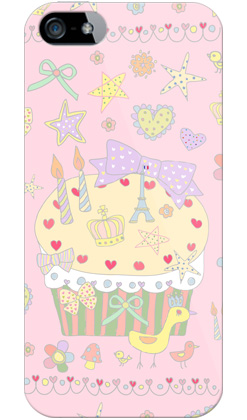 uistore「Pretty☆World(pink) 」 / for  iPhone 5/SoftBank