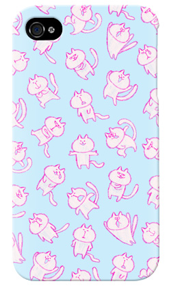 uistore「loosey cat (Blue)」 / for  iPhone 4S/SoftBank