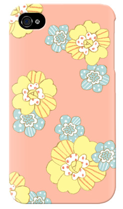 uistore「patchwork flower (salmon pink)」 / for  iPhone 4S/SoftBank