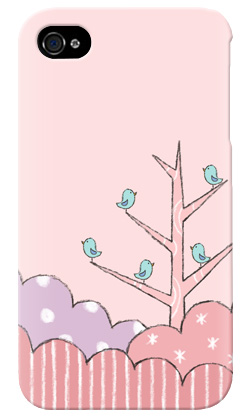 uistore「Tree of Bird(Pink)」 / for  iPhone 4S/SoftBank