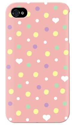 uistore「Dot (BabyPink)」 / for  iPhone 4S/SoftBank