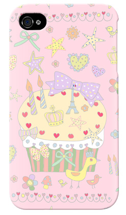 uistore「Pretty☆World(pink) 」 / for  iPhone 4S/SoftBank