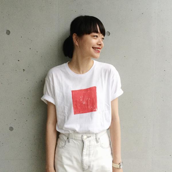 kanoco「四角い日本」Tシャツ