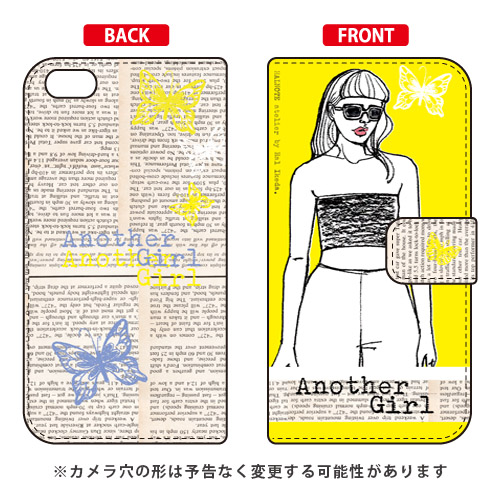 手帳型ケース Hal Ikeda「Another Girl イエロー」 / SECOND SKIN