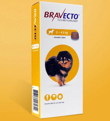 犬用経口ノミダニ駆除薬 ブラベクト錠 超小型犬用 2-4.5kg 112.5mg