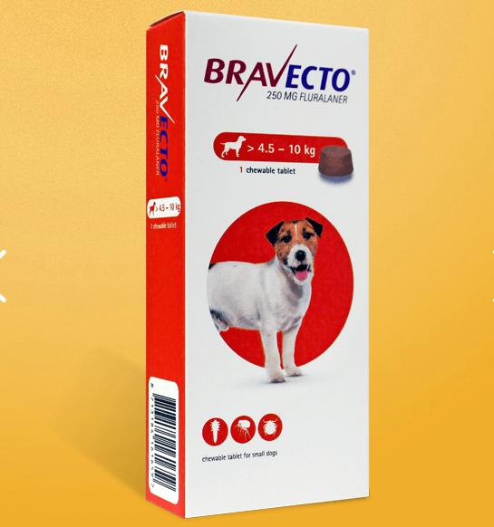 犬用経口ノミダニ駆除薬 ブラベクト錠 小型犬用 4.5-10kg 250mg