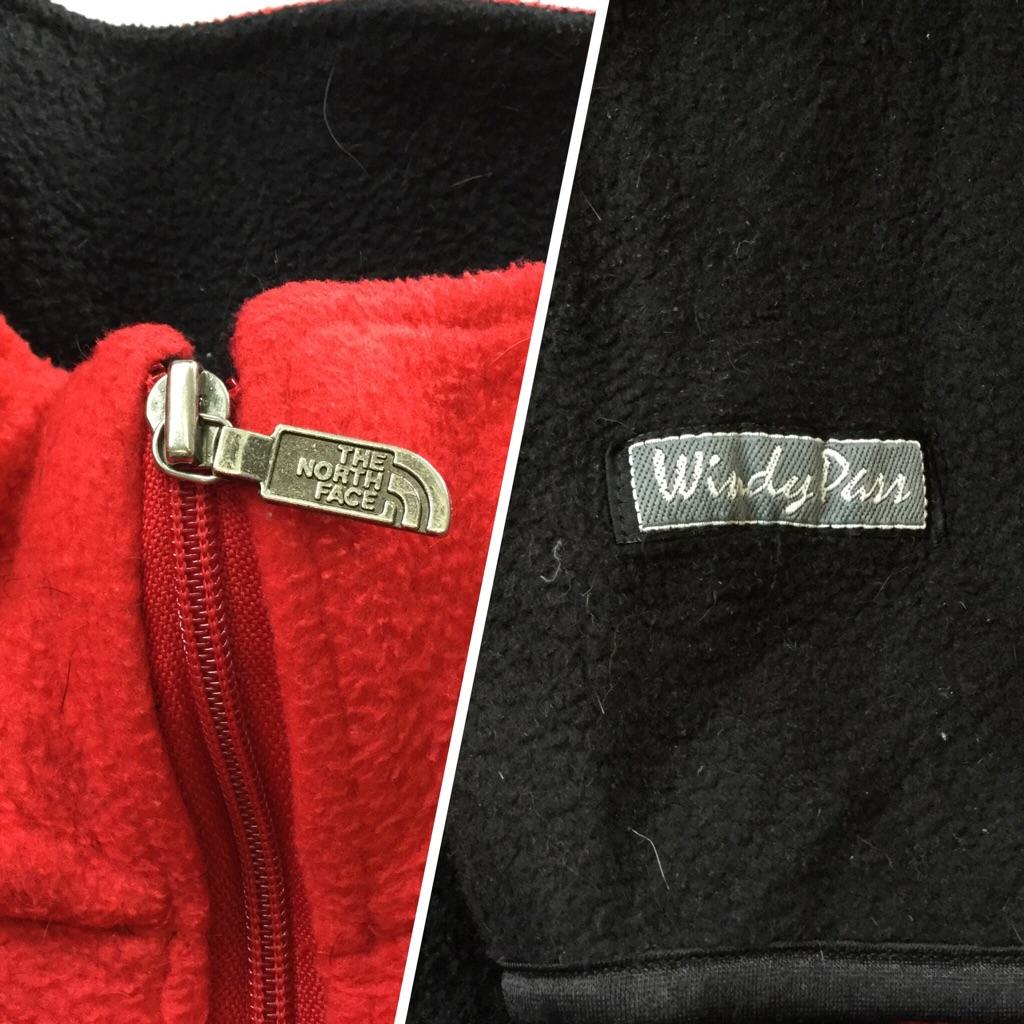 80年代 THE NORTH FACE Windy Pass ノースフェイス ウィンディパス フリースジャケット アメリカ直輸入 フルジップ 送料無料 レディース M/赤x黒 プルオーバー MADE IN USA アメカジ ブランド シンプル アウター アウトドア スポーツ 古着卸 業販 オールド 希少 レア