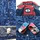 アメリカ古着 カバーオール デニムジャケット 送料無料 レディース XL程度/デニムブルー レイルマンジャケット ライナー付き ネイティヴ USA アメカジ 古着卸 業販 大きい ビッグ オーバー ネイティブ