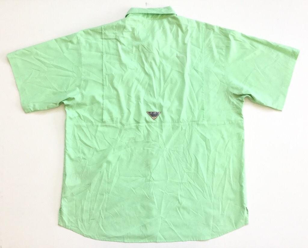Columbia PFG コロンビア アウトドア 半袖シャツ アメリカ直輸入 フィッシングシャツ 送料無料 メンズ XL/蛍光 黄緑系 ブランド スポーツ ポリシャツ 古着卸 業販 大きいビッグ オーバー