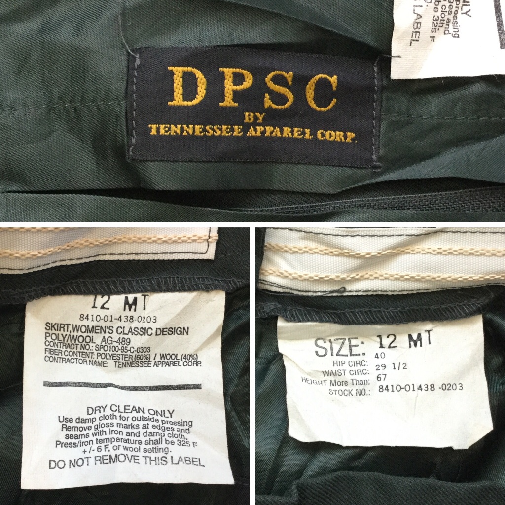 DPSC 米軍 実物 スカート アメリカ直輸入 レディース 12/オリーブグリーン アメリカ軍 ミリタリー アーミー タイトスカート ワーク送料無料 スーツスカート アメカジ 古着卸 業販
