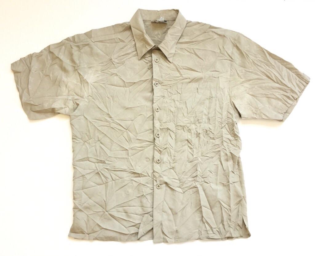 Reds アメリカ直輸入 LV モノグラムプリントシャツ 半袖シャツ メンズ XL/ベージュ 送料無料 ルイ・ヴィトン アメカジ USA 古着卸 業販