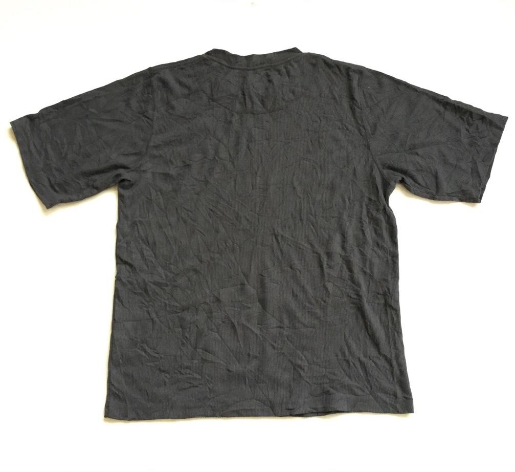 THE NORTH FACE ノースフェイス アメリカ直輸入 半袖Tシャツ 送料無料 メンズ L/グレー系 リブ  MADE IN USA アメカジ ブランド シンプル アウトドア スポーツ 古着卸 業販
