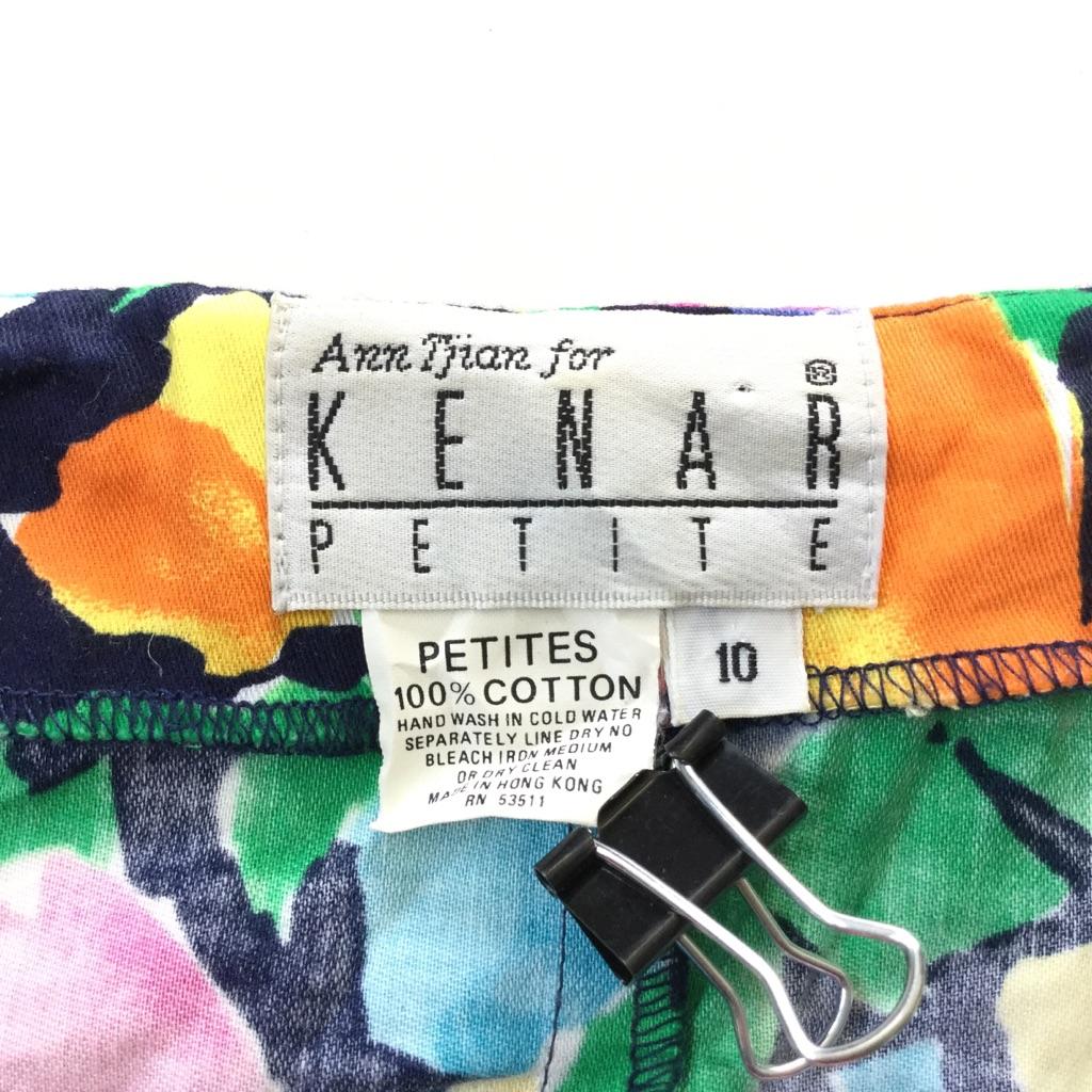 KENAR PETITE アメリカ直輸入 ノースリーブワンピース サンドレス レディース 10/多色 花柄 フラワープリント ポップ モード オールドアメリカ アメカジ 総柄 USA 古着御 業販