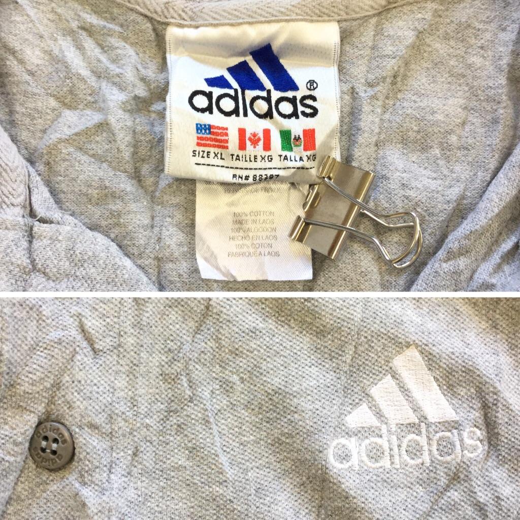 adidas x NFL Huskers NEBRASKA アディダス ハスカーズ 半袖ポロシャツ 送料無料 XL/グレー アメリカ直輸入 スポーツ アメフト フットボール N 古着卸 業販 大きい ビッグ オーバー
