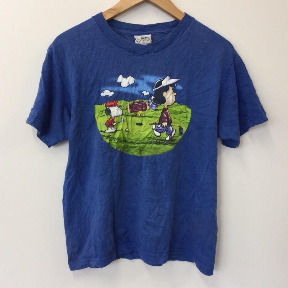 スヌーピー PEANUTS ナッツベリーファーム 半袖Tシャツ ユースLサイズ US古着 アメリカ 遊園地