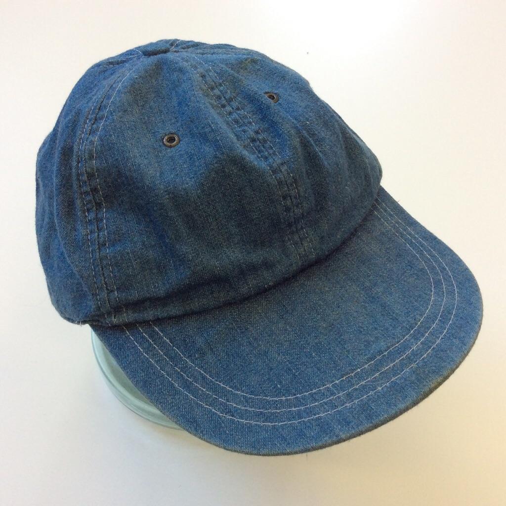 GAP ギャップ 6パネル デニムキャップ USA輸入 M-L/ブルー 送料無料 ブランド 90's インディゴ ベーシック