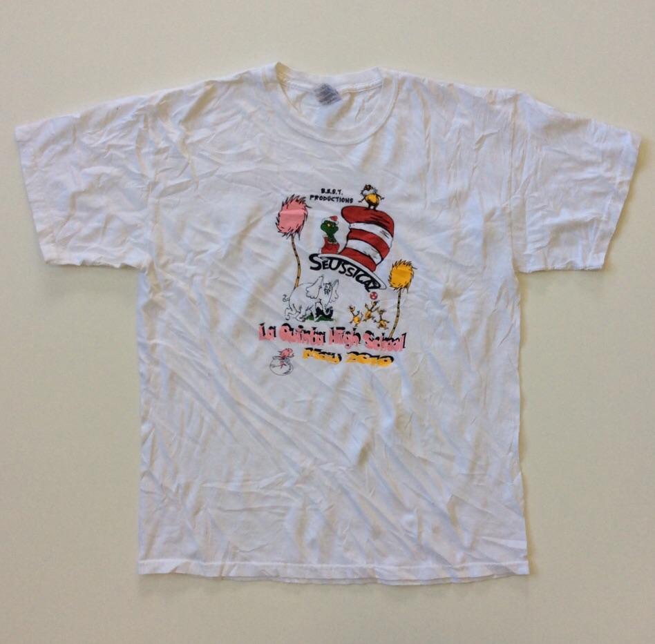 SEUSSICAL スーシカル 半袖Tシャツ L/白 送料無料 アメリカ輸入 コミック キャラT ミュージカル 白T USA アメカジ