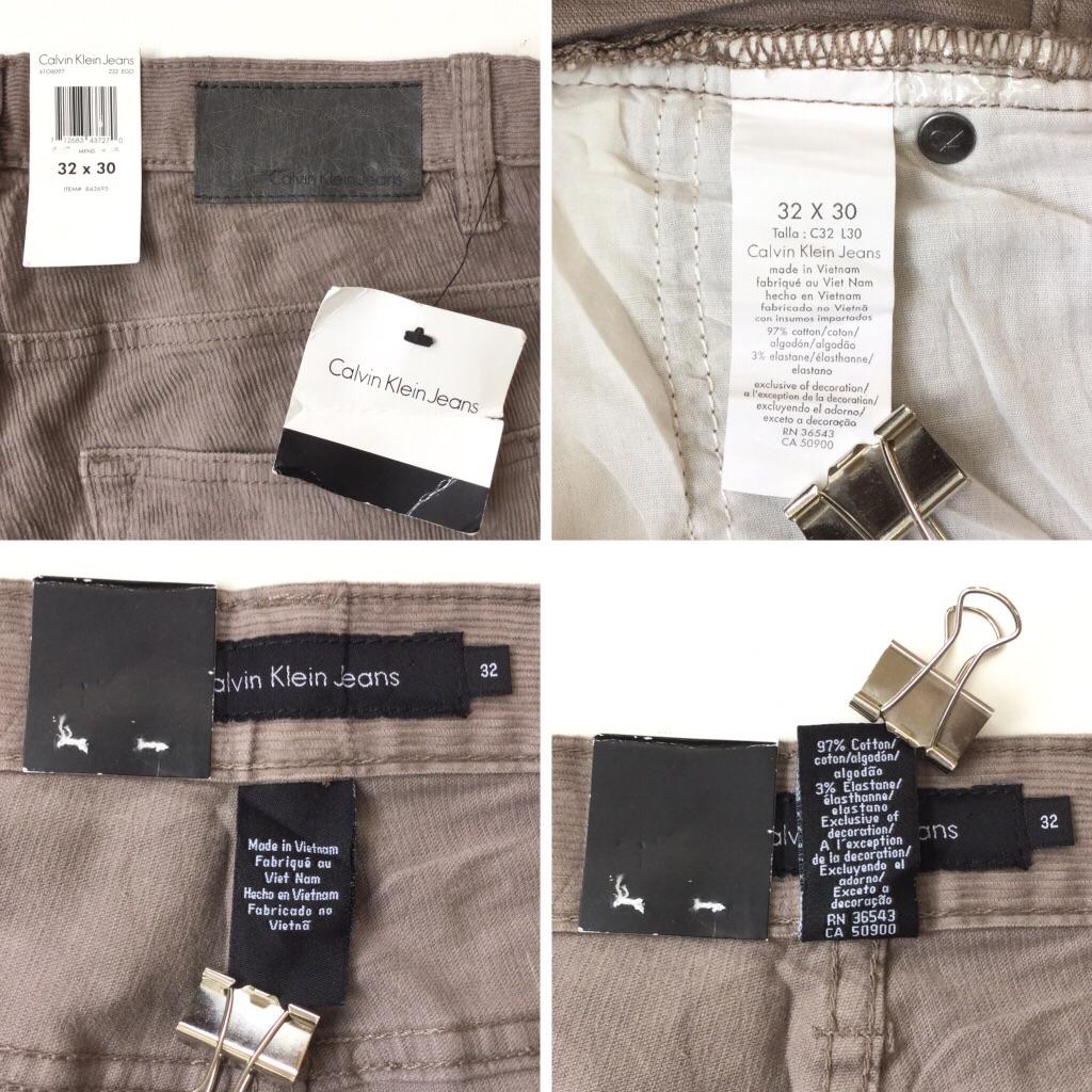 Calvin Klein Jeans カルバンクラインジーンズ 未使用品 デッドストック コーデュロイパンツ 送料無料 メンズ 32x30 USA ブランド アメカジ カジュアル トラッド CK アメリカ直輸入 古着卸